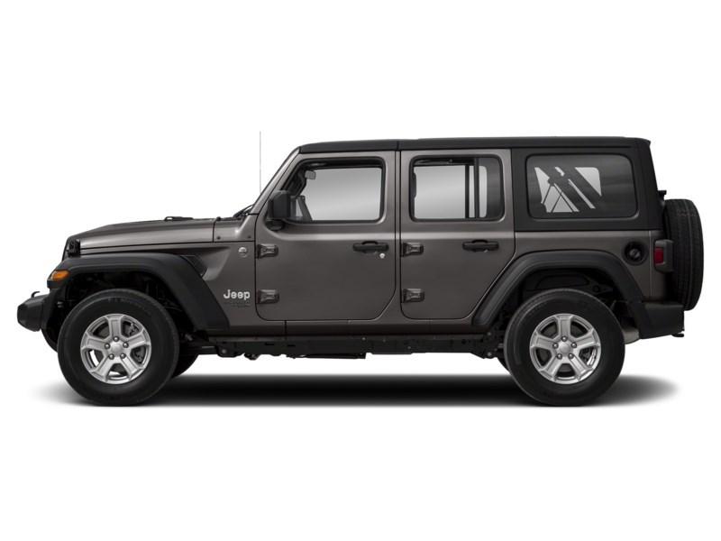 2020 Jeep Wrangler Unlimited Sahara w/ Leather, Nav, Dual Tops & Safety Granite Crystal Metallic  Shot 3