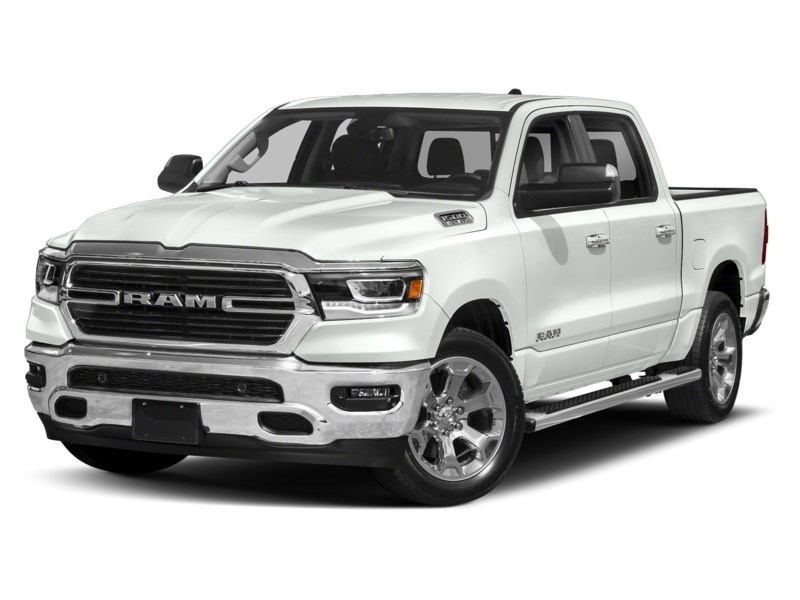 2020 RAM 1500 SPORT CREW CAB 4X4- Leather/ Pano Roof/ Sport Hood Bright White  Shot 1