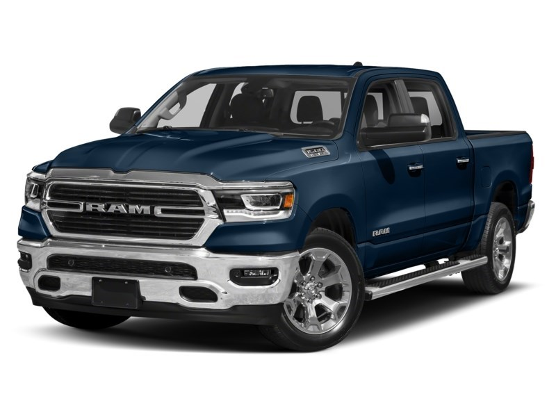 2020 RAM 1500 SPORT CREW CAB 4X4- Leather/ Pano Roof/ Sport Hood Patriot Blue Pearl  Shot 10