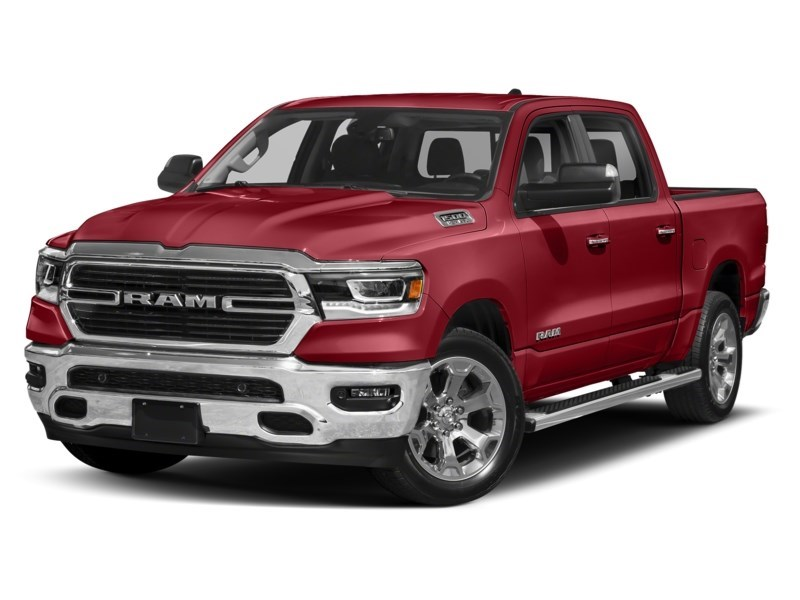 2020 RAM 1500 SPORT CREW CAB 4X4- Leather/ Pano Roof/ Sport Hood Flame Red  Shot 13