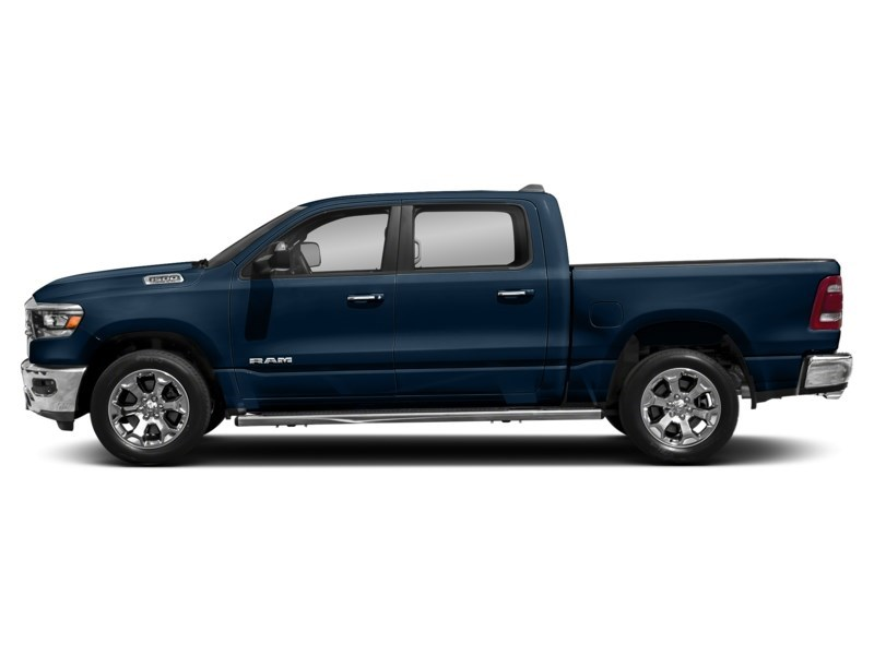 2020 RAM 1500 SPORT CREW CAB 4X4- Leather/ Pano Roof/ Sport Hood Patriot Blue Pearl  Shot 12