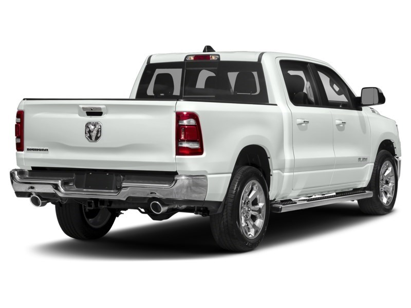 2020 RAM 1500 SPORT CREW CAB 4X4- Leather/ Pano Roof/ Sport Hood Bright White  Shot 2