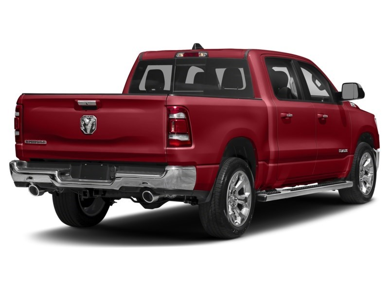 2020 RAM 1500 SPORT CREW CAB 4X4- Leather/ Pano Roof/ Sport Hood Flame Red  Shot 14